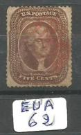 EUA Scott  30 Type II Red Cancel YT 12 # - Used Stamps