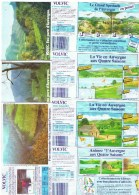 ETIQUETTES-EAU VOLVIC-L'AUVERGNE AUX 4 SAISONS-2 SCANS- - Etiketten