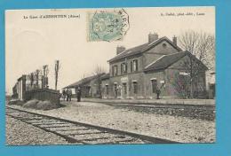 CPA Chemin De Fer La Gare D'AUBENTON 02 - Actuellement Désaffectée - Autres Communes