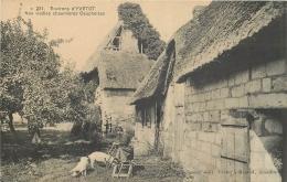 76-781 CPA  Environs D'YVETOT  Nos Vieilles Chaumières Cauchoises    Belle Carte  2 SCANS - Yvetot