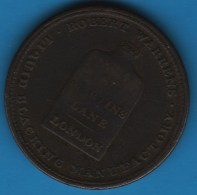 ROBERT WARRENS - LIQUID BLACKING MANUFACTORY TOKEN - 14 ST MARTINS LANE LONDON - Monetary/Of Necessity
