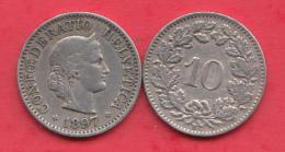 Suisse 10 Rappen 1897 Dans L ´état - Svizzera