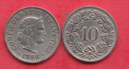 Suisse 10 Rappen 1898 Dans L ´état - Svizzera