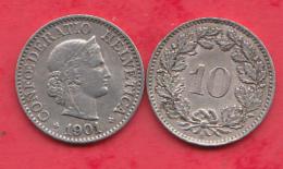 Suisse 10 Rappen 1901 Dans L ´état - Svizzera