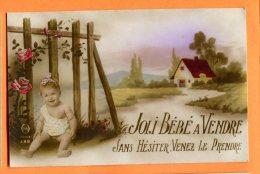 CAL816, Joli Bébé ä Vendre, Sans Hésitez, Venez Le Prendre !, 388, Non Circulée - Neonati