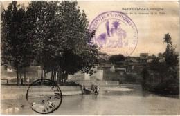 BEAUMONT DE LOMAGNE (82) Rare Bassin De La Gimone Et La Ville - Tampon Médecin Chef 17ème Région - Carte Postée - Beaumont De Lomagne