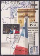 Charles De Gaulle Carte Postale 1er Jour Paris 8.11.80 N°2114 Le 10è Anniversaire De Sa Mort 40è Anniversaire De L´Appel - De Gaulle (General)