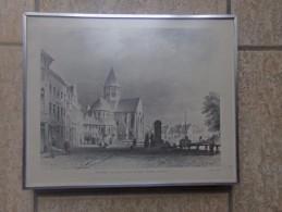 Oudenaarde Kerk Van O.L. Vrouw Van Pamele (lithographie Van Simoneau) Gedrukt Sanderus Oudenaarde - Lithographies