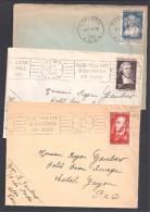 Lot De 10 Timbres Seuls Sur Lettre - Marcophilie (Lettres)