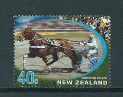 2002 New Zealand 40 Cent Paarden,pferde,horses Used/gebruikt/oblitere - Gebruikt