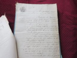 Actes Notarié Acte De Comparution - Documents Historiques