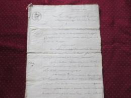 Actes Notarié Acte De Vente Sur Pont L'abbé D'arnoult  17250 - Documents Historiques