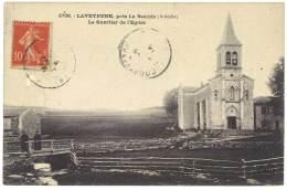 Cpa Laveyrune, Près La Bastide - Le Quartier De L'Eglise - France