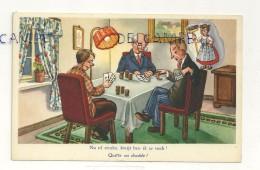 """HUmour. Hommes Qui Jouent Aux Cartes. """"Quitte Ou Double"""" - Cartes à Jouer"""