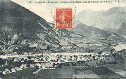 """/ CPA FRANCE 38 """"Tréminis, Village De Château Bas Et L'Obiou"""" - France"""