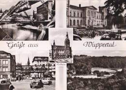 Carte 1950 MULTIVUES WUPPERTAL / STADE - RUE - ZOO - Wuppertal
