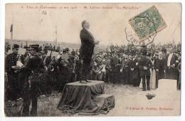 Fêtes De Chateauneuf 17 Mai 1905 : M. Laffond Chantant La Marseillaise - Chateauneuf Sur Charente