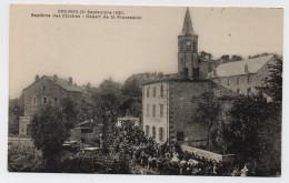 ORCINES (63) - 21 SEPTEMBRE 1930 - BAPTEME DES CLOCHES - DEPART DE LA PROCESSION - France