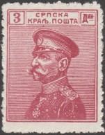 Serbie 1911 Y&T 103. Roi Pierre Ier, 3 Dinars. Neuf Sans Charnière, MNH (**) - Serbien