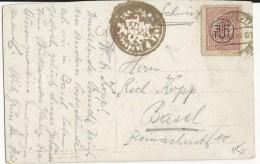 """ROUMANIE - 1897 - CARTE POSTALE De BUCAREST Avec TIMBRE SURCHARGE """"FPTT"""" Pour BASEL (SUISSE) - Marcofilia"""