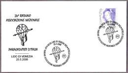 Asociacion Nacional De PARACAIDISMO - PARACHUTING. Lido Di Venezia 2008 - Paracadutismo