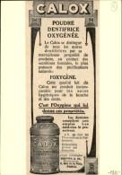 DENTISTES - Pub CALOX Issue D'une Revue De 1911 Collée Sur Carton - Dentifrice - Publicités