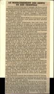 DENTISTES - Article Issu D´une Revue De 1950 Collé Sur Carton - DENTS - Publicités