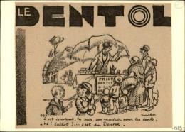 DENTISTES - Pub DENTOL Issue D'une Revue De 1929 Collée Sur Carton - Dessin De POULBOT - Publicités