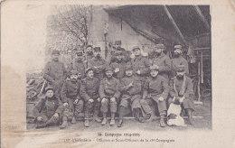 Bc - Cpa Campagne 1914-15 - 318è D'Infanterie - Officiers Et Sous Officiers De La 18è Compagnie (Peloton St Crepin 1915 - Oorlog 1914-18