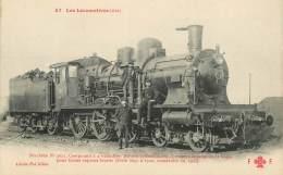 """CPA TRAIN / LOCOMOTIVE """"machine Compound à 4 Cylindres, 3 Essieux"""" - Trains"""