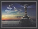 Malaysia (2013) Yv. Bf. 159 /  Leuchtturm - Faro - Phare - Lighthouse - UNUSUAL Glow In The Dark - Vuurtorens