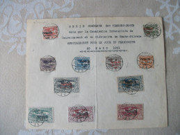 Allemagne:Haute Silesie.Plebiscite 1921.Serie Complete  Des Timbres Postes. - Covers & Documents