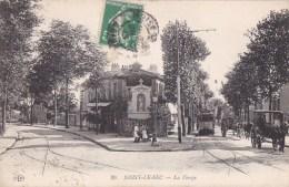 93 NOISY Le SEC  ATTELAGES TRAMWAY  Animation ENFANTS Devant La STATUE De La VIERGE  Timbre 1913 - Noisy Le Sec