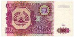TADJIKISTAN 500 RUBLES 1994 Pick 8 Unc - Tajikistan