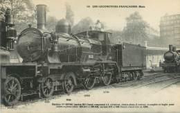 """CPA TRAIN / LOCOMOTIVE """"machine Compound à 4 Cylindres"""" - Trains"""