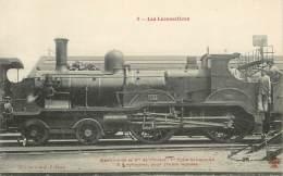 """CPA TRAIN / LOCOMOTIVE """"machine De La Cie De L'Ouest"""" - Trains"""
