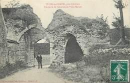 """/ CPA FRANCE 45 """"Yèvre Le Chatel Près Pithiviers, Une Partie De L'enceinte Du Vieux Manoir"""" - Autres Communes"""