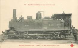 "CPA TRAIN / LOCOMOTIVE ""machine De Banlieue Dite Tender"" - Trains"