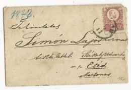 HONGRIE - 1873 - ENVELOPPE Pour ETED - Marcophilie