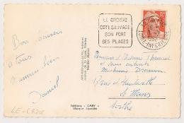DAGUIN LE CROISIC LOIRE INFERIEURE Sur 12F GANDON. - Marcophilie (Lettres)