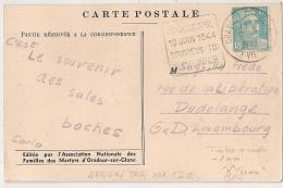 ORADOUR S GLANE HAUTE VIENNE Sur 8F GANDON. - Marcophilie (Lettres)