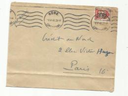 ALGERIE  :   Blason Sur Lettre Du 3ème Régiment De Tirailleurs Algériens Cad Du 06 05 1948 De Bone .Voir Verso - Algerien (1924-1962)
