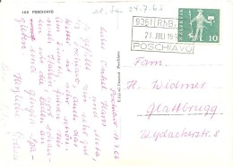 Schweiz, 1963, Karte, Poschiavo RhB 9361 Nach Glattbrugg, Siehe Scans! - Cartas