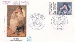 France FDC 1982 Picasso - La Femme En Gris (SKO6-5) - FDC
