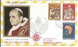 VATICAN LETTRE FDC VISITE PAPE PAUL VI EN OUGANDA 1969 - Marcophilie - EMA (Empreintes Machines)