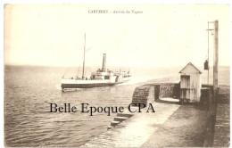 50 - CARTERET - Arrivée Du Vapeur / Cygne, Jersey +++ Collection Rose / Cliché Coron ++++ 1907 +++++ RARE - Carteret