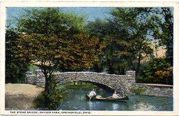 The Stone Bridge, Snyder Park, SPRINGFIELD - OHIO - ( Amerique ) - Non Classés