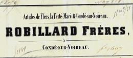 LETTRE DE VOITURE ROULAGE TRANSPORT ROBILLARD FRES CONDE SUR NOIREAU LA FERTE MACE ET FLERS  1850 P. MONTLIEU V.SCANS - 1800 – 1899