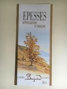 944b-  Suisse Vaud  Epesses  Bujard Lutry  étiquette Neuve 50cl - Etiquettes