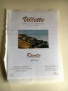 955 -  Suisse Vaud   Villette  2006 étiquette Autocollante Neuve - Etiquettes